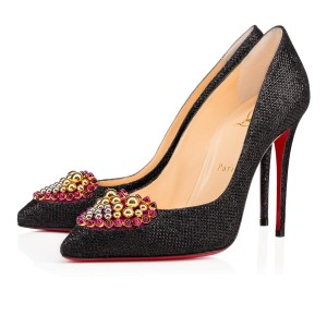 Christian Louboutin Coralta Mia Glittered Heart black Pumps
