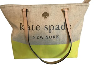Kate Spade Color Tote in Natural/yellow