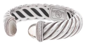 David Yurman David Yurman Sterling Silver Prasiolite & Diamond Waverly Bracelet