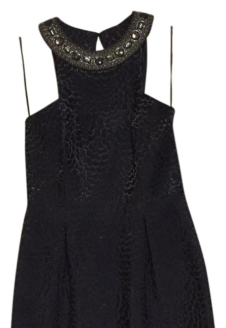 Item - Black with Gold Detailing Short Cocktail Dress Size 8 (M)