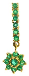 Other 18k Yellow Gold Colombian Emerald Drop Pendant