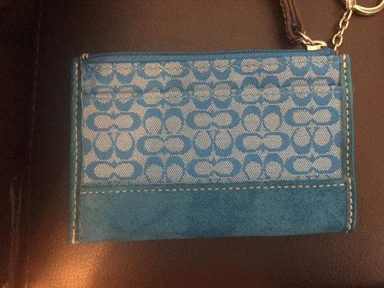 Coach Signature COACH Jacquard change purse/credit card case with Keyring