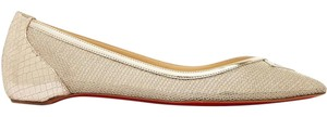 Christian Louboutin Neoflat Lace Red Sole gold Flats