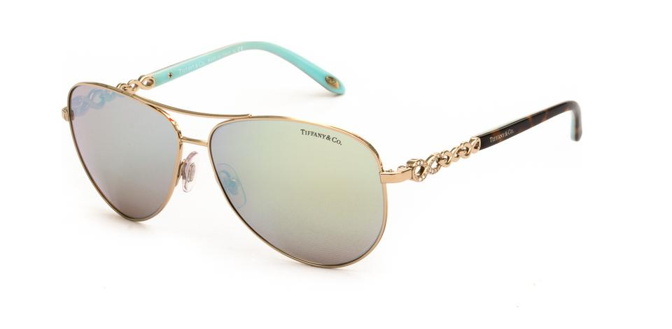 d3d644db2c37 Tiffany   Co. Pale Gold Tortoise Blue New Infinity Aviator 3049b C ...