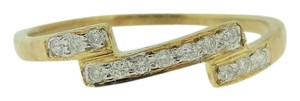 Other Delicate Diamond Band - Thin Diamond Ring - Diamond Ring in 14k Yello
