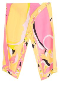 Emilio Pucci Emilio Pucci pink and yellow abstract print scarf