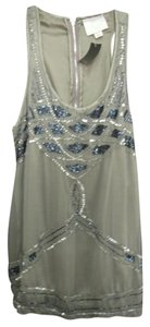 Romeo & Juliet Couture Sequin Sleeveless Top gray