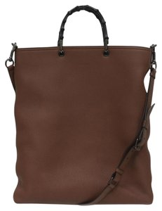 Gucci Bamboo Shopper Shoulder Bamboo Tote in Brown