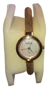 Skagen Denmark Skagen Rose Gold Slim Mesh Bracelet Watch