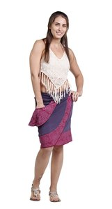 Other Hippie Boho The Treasured Hippie Handmade Patchwork Mini Skirt Eggplant