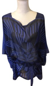 BCBGMAXAZRIA Top Cobalt Blue/Black