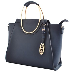 USO COUURE Leather Bagsforwomen Fashionforwomen Formalbags Satchel in Navy