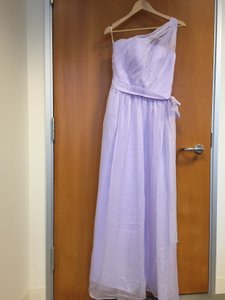 Lavender One Shoulder Pleadted Chiffon Dress