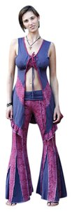 Other Hippie Boho The Treasured Hippie Handmade Bell Flare Pants Eggplant
