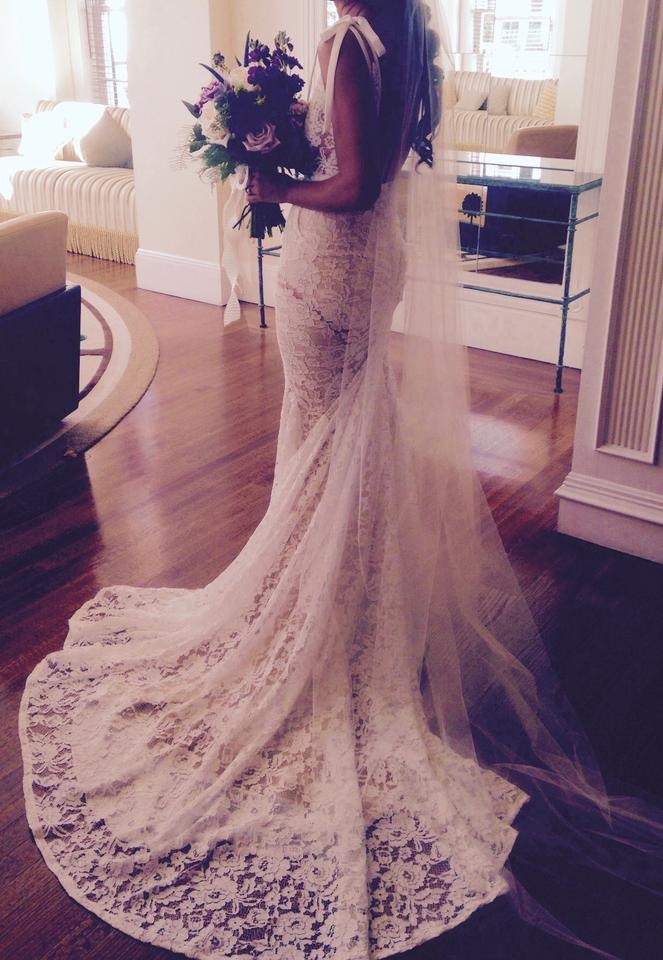 dee7b759eb0 Inbal Dror Ivory Alencon (French) Lace Br-13-05 Sexy Wedding Dress ...