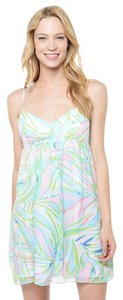 Lilly Pulitzer short dress Sky Blue Salute Dorothy Dorothy Floral Party on Tradesy