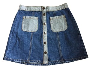 BDG Urban Outfitters Boho Festival Hippie Summer Mini Skirt Denim
