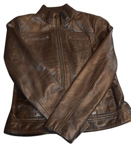 Andrew Marc Dark Brown Leather Jacket