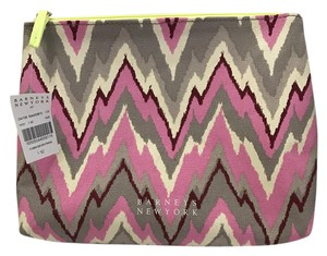 Barneys New York Barneys New York Make-Up Case Cosmetic Toiletries Bag Zig Zag Ltd. Ed.