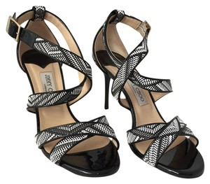 Jimmy Choo Heels Sandals Black and White Pumps