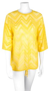 M Missoni M Zigzag Knit Crochet Tunic