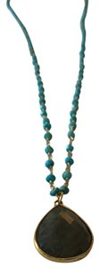 turquoise beaded stone necklace turquoise & gold beaded and moon stone necklace