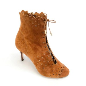 Jimmy Choo Laser Cut Open Toe canyon Boots