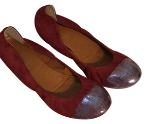 Anthropologie Burgundy Flats