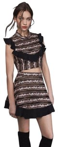 For Love & Lemons And Percephone Embellished Crop Top BLACK/MULTI