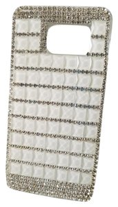 Other Samsung S5 White & Clear Rhinestone Cellphone Cover (New)