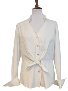 Finley Crisp Shirt Button Down Top White
