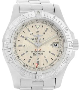 Breitling Breitling Colt Silver Dial Steel Mens Watch A17380 Box Papers