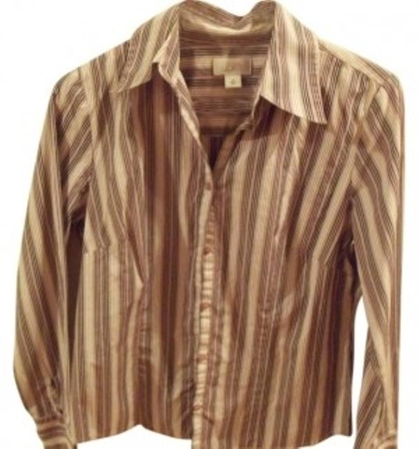 Preload https://item5.tradesy.com/images/ann-taylor-loft-white-black-and-toupe-pin-stripe-mulit-colored-button-down-top-size-10-m-21014-0-0.jpg?width=400&height=650
