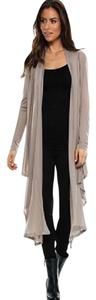 Elan Convertible Multi-way Cardigan Long Sleeve Top Taupe