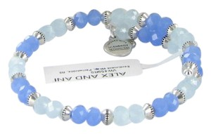 Alex and Ani VW459RS Sentiment Wrap Periwinkle Expandable Bracelet Russian Silver