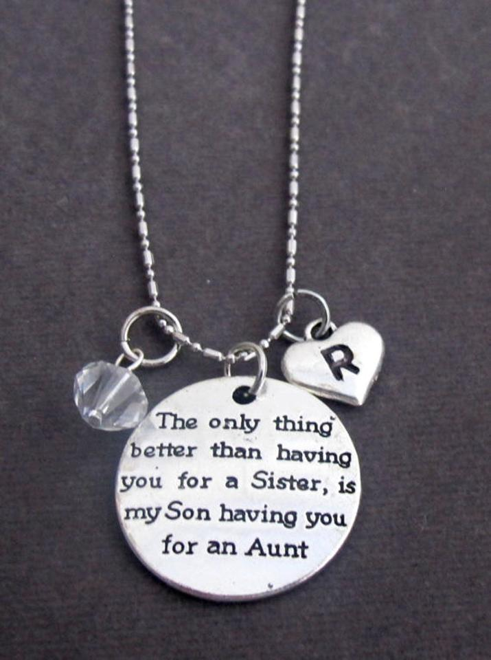 sister jewelry aunt tia pin necklace favorite auntie gift