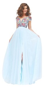 Sherri Hill Lace Floral Prom Embroidered Bohemian Dress