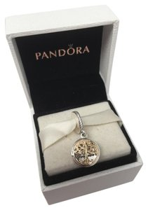 PANDORA Pandora Family roots charm 2 tone 14kt in original gift pouch