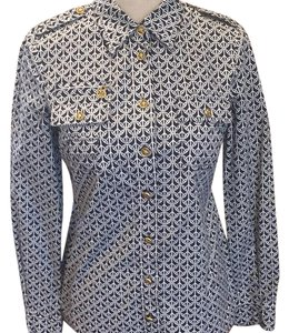 Tory Burch Top navy and white