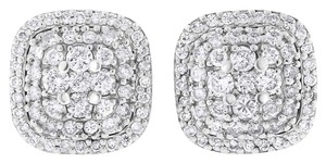 Other 0.68 Ct. Natural Diamond Puffy Cushion Halo Illusion Stud Earrings 14k