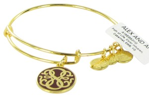 Alex and Ani Path of Life Cabernet Color Infusion Expandable Bracelet Shiny Gold