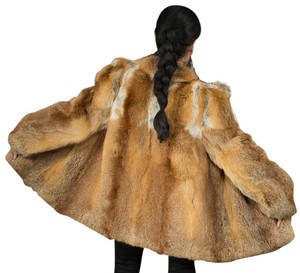 Saga Furs Fur Fur Fur Red Fur Coat
