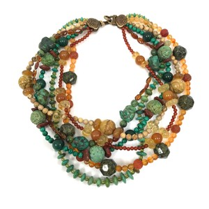 Stephen Dweck Multi Stone Layered Necklace