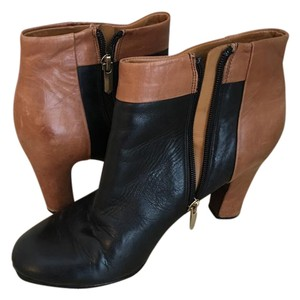 Sam Edelman Black, Tan Boots