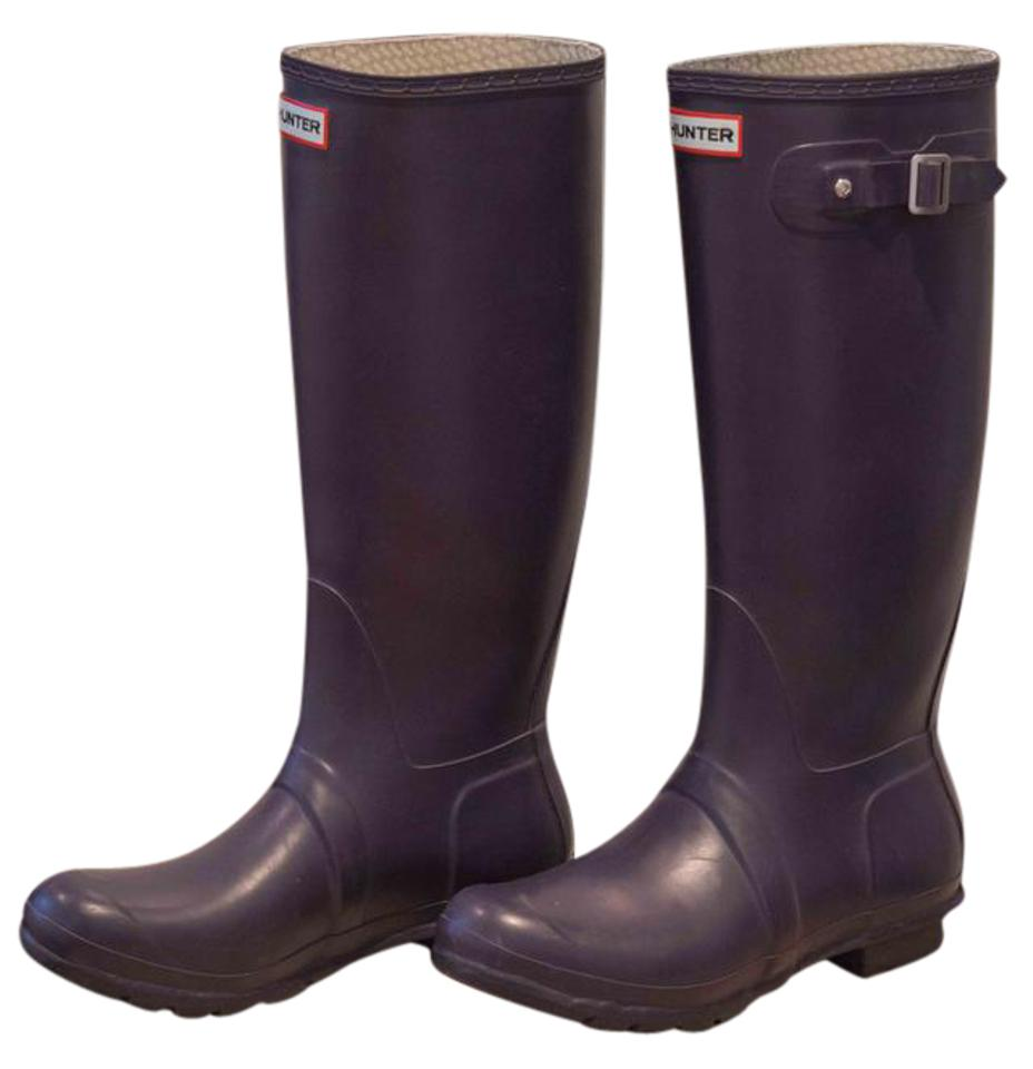 womens Hunter Purple Tall Purple Hunter Rain Boots New 51fae0