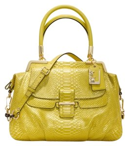 Coach Limited Edition Satchel in Yellow & Metallic Gold