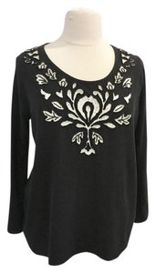 INC International Concepts Studded Embroidered Beads Tunic