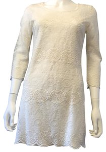 AG Adriano Goldschmied short dress Cream Lace on Tradesy