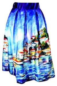Other Skirt Blue Watercolor