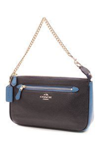 Coach Wristlet in Navy blue, turquoise